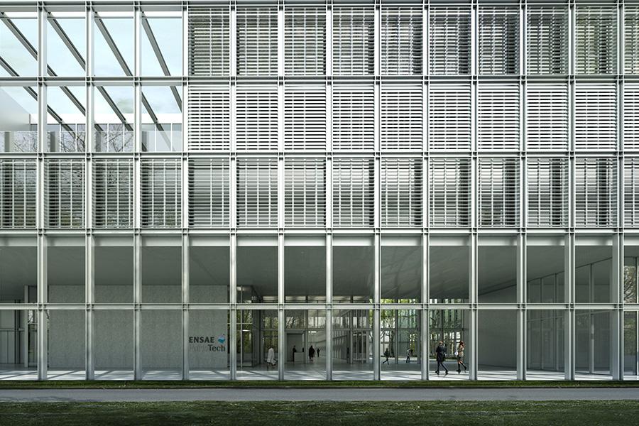 SCL-CAB ARCHITECTES - ENSAE ParisTech à Saclay - 2016CHE D'ENTREE