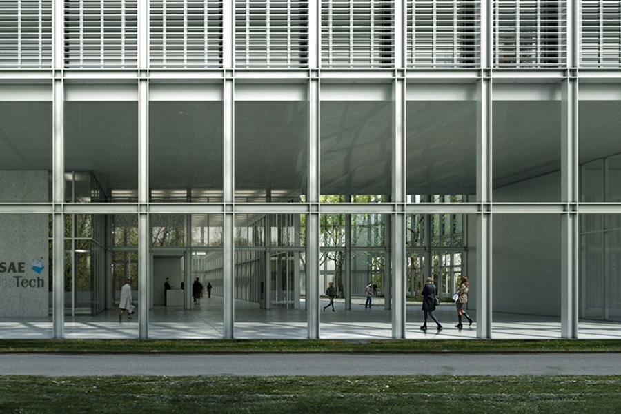 SCL-CAB ARCHITECTES - ENSAE ParisTech à Saclay - 2016M SUR PORCHE D'ENTREE