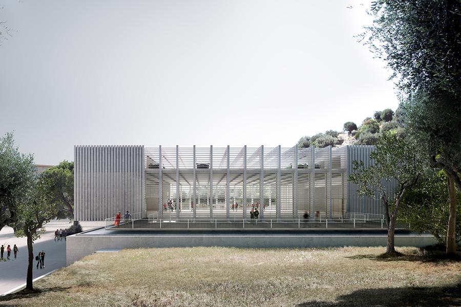 CAB ARCHITECTES - Gymnase du Collège Jean Cocteau à Beaulieu-sur-Mer - 2014