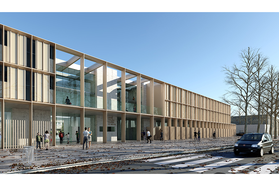 Cab architectes internat du lyc e honor de balzac - College honore de balzac azay le rideau ...