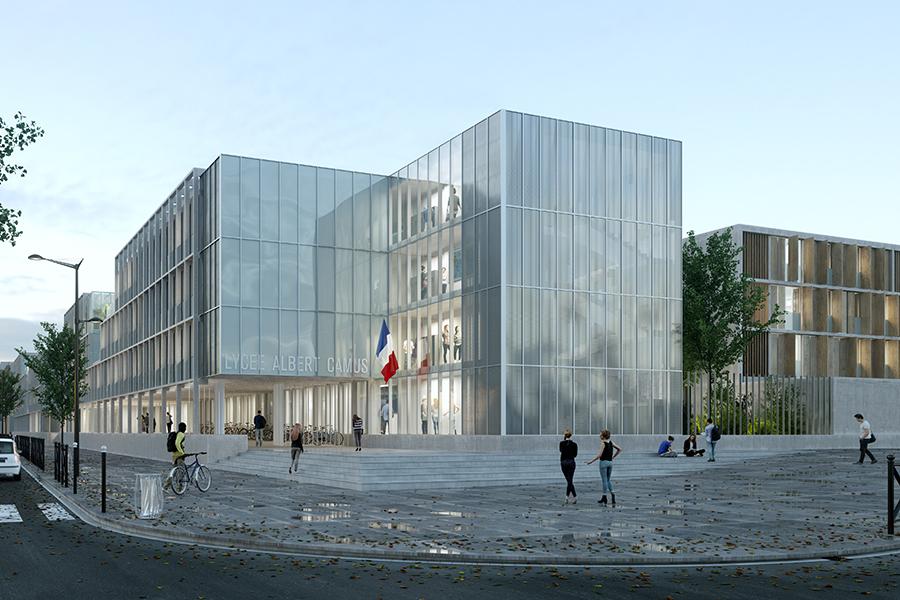 CAB ARCHITECTES - Lycée Albert Camus à Bois-Colombes (2016)